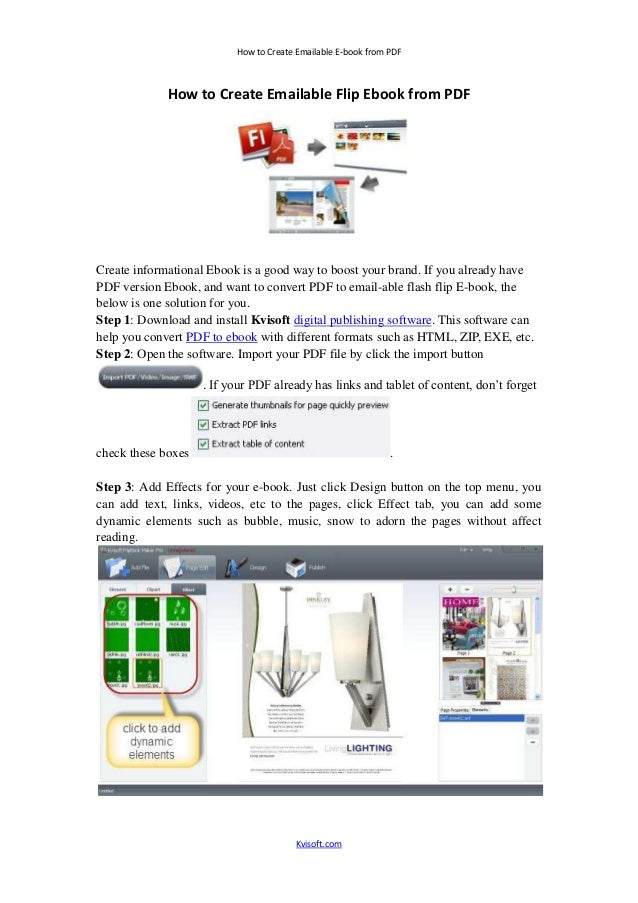 How to create emailable flip ebook from pdf