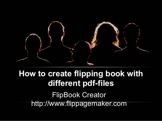 How to create flipping book with different pdf