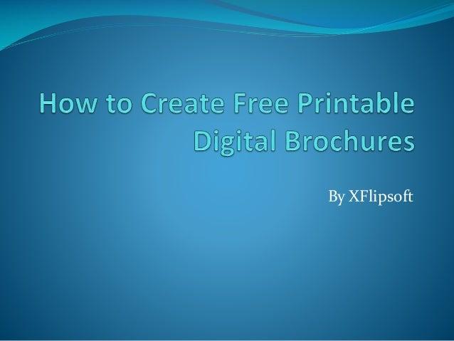making free brochures