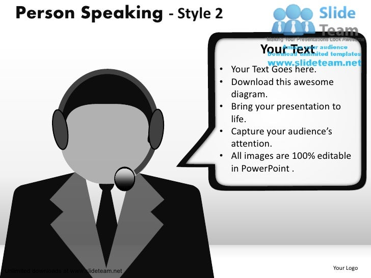 Person Speaking - Style 2                                                    Your Text                                    ...