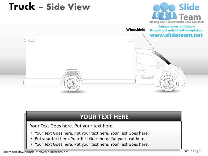 Truck – Side View                                                                   Windshield                            ...