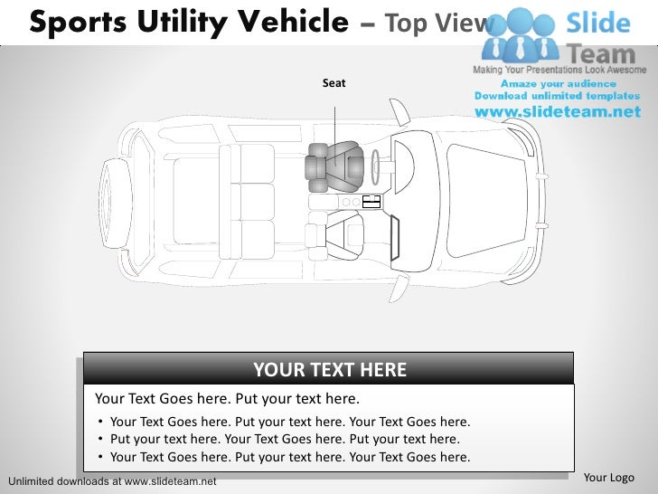 How to create make drive sports utility blue vehicle power point slides and ppt diagram templates