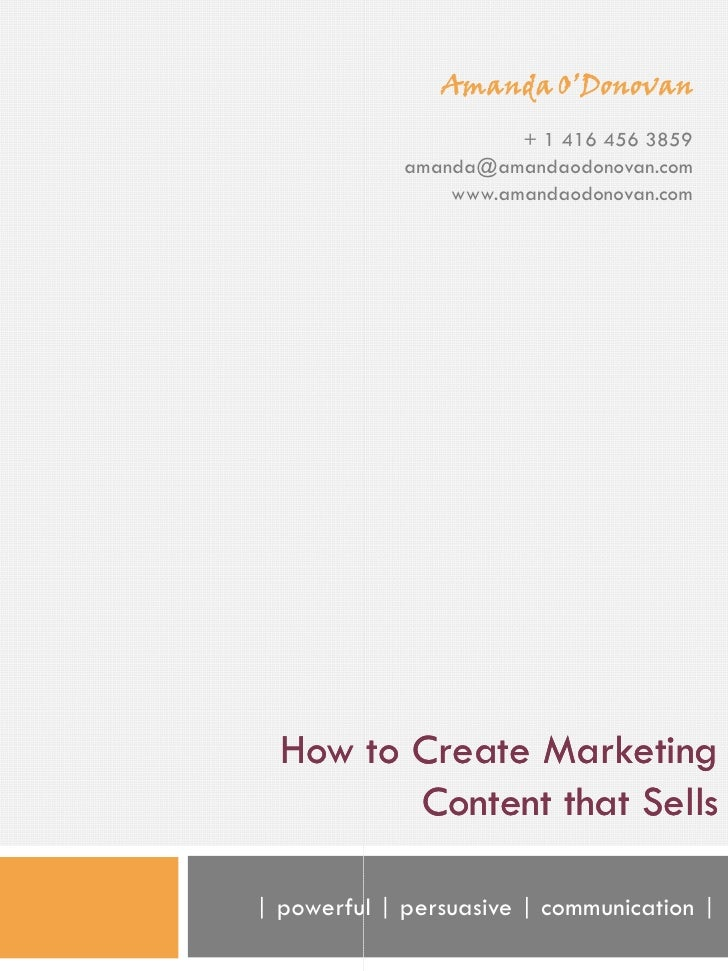 How To Create Marketing Content That Sells