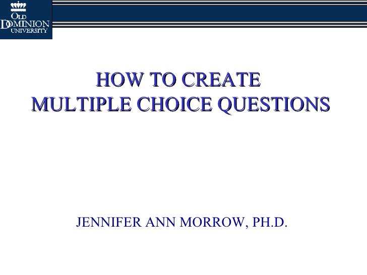 multiple choice quiz creator