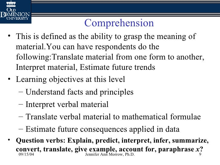 Interpret Essay Questions