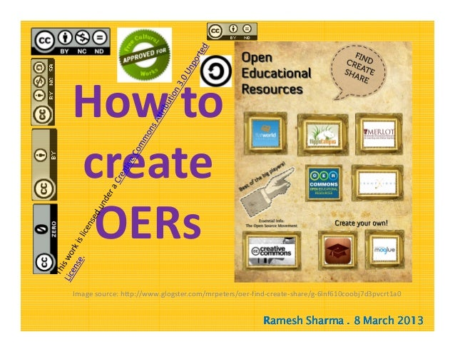 How to create Open Educational Resources (OERs)