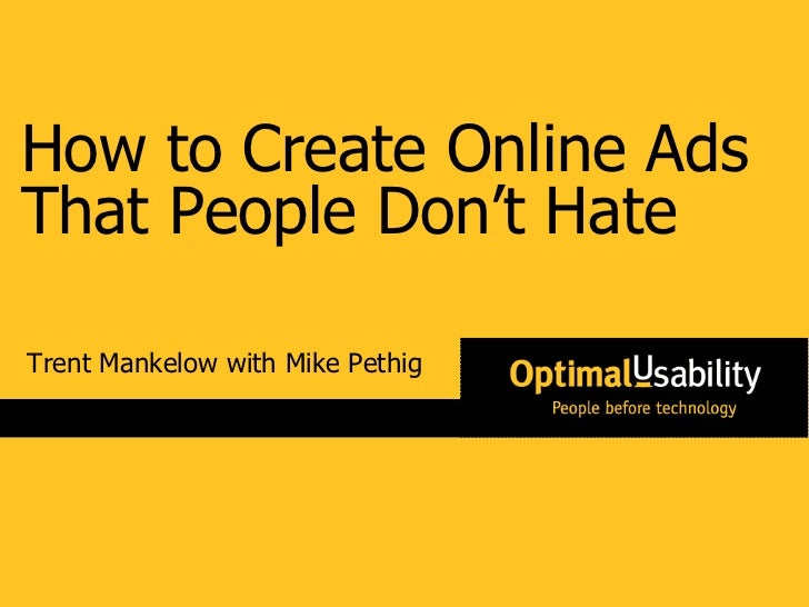 How to Create Online Ads That People Don't Hate Trent Mankelow with Mike Pethig
