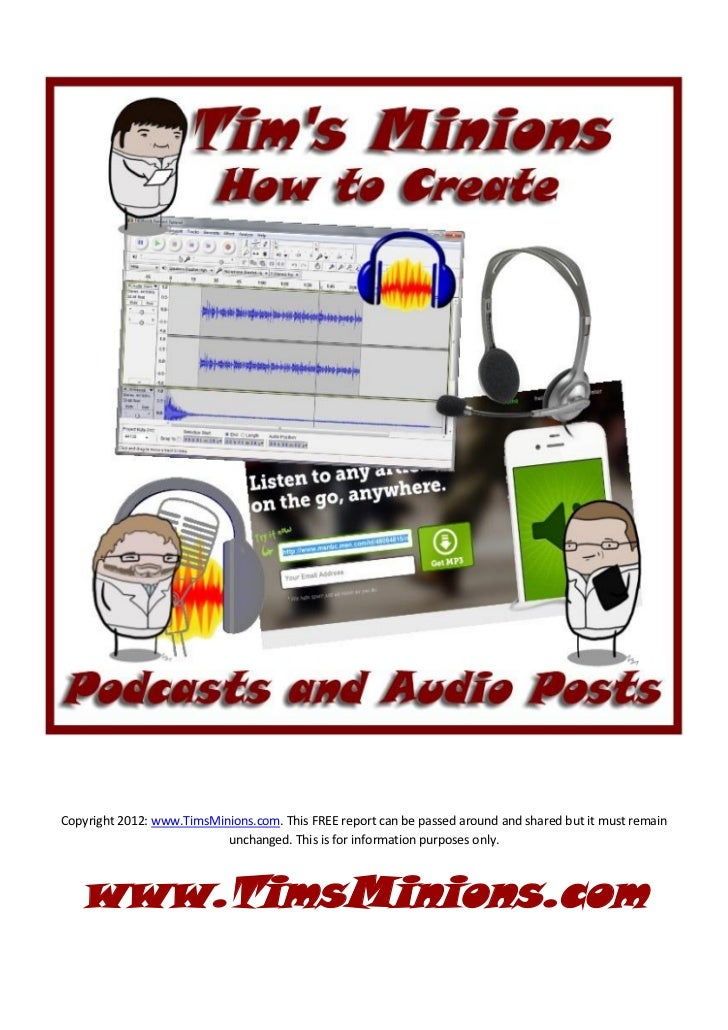 How to create podcasts and audio posts guide