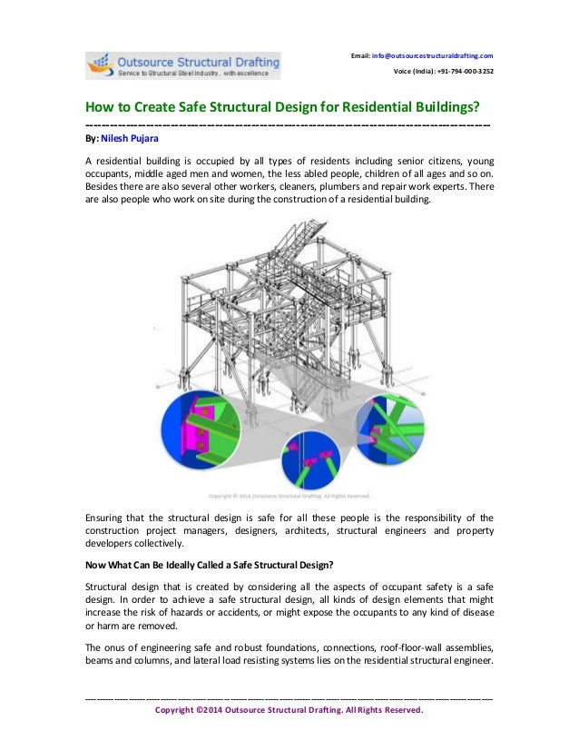 How to Create Safe Structural Design for Residential Buildings?