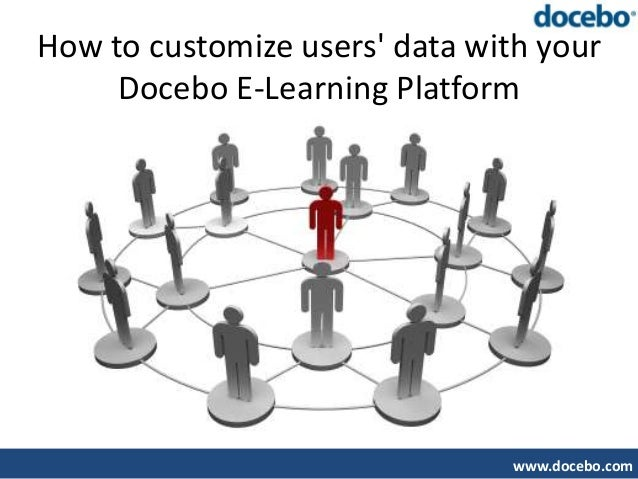 How to customize users data with your     Docebo E-Learning Platform                                www.docebo.com