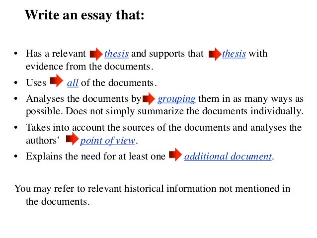 AP World History DBQ Essay
