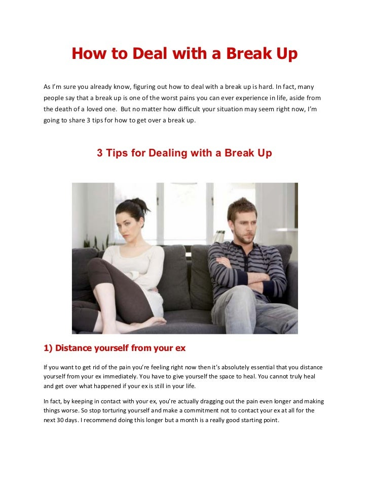 Dealing with breakup and depression?