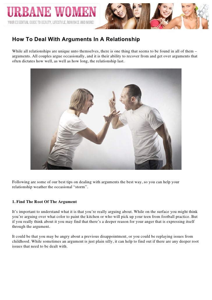 How To Deal With Arguments In A RelationshipWhile all relationships are unique unto themselves, there is one thing tha...