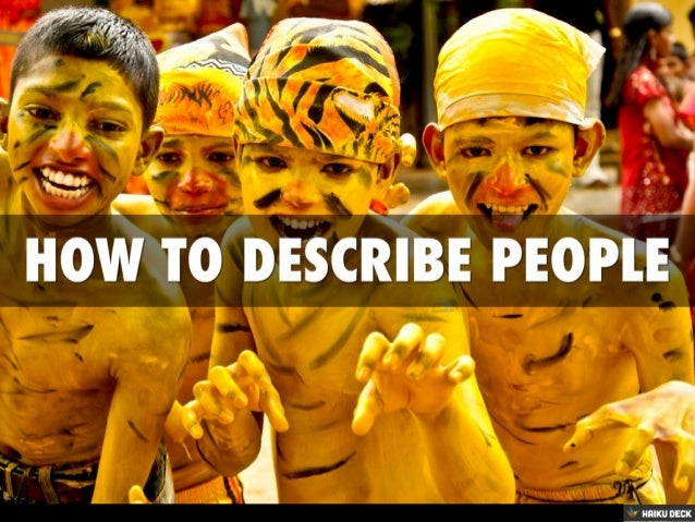 How To Describe People