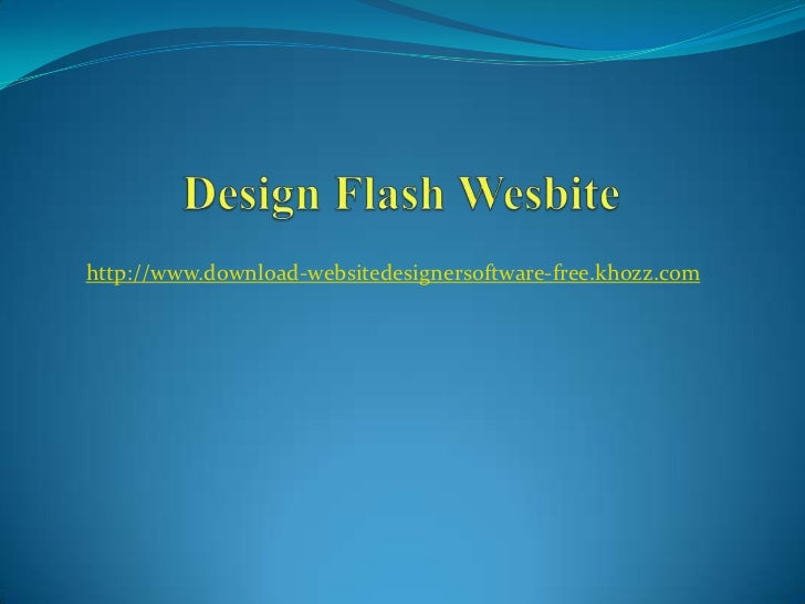 How to design flash website