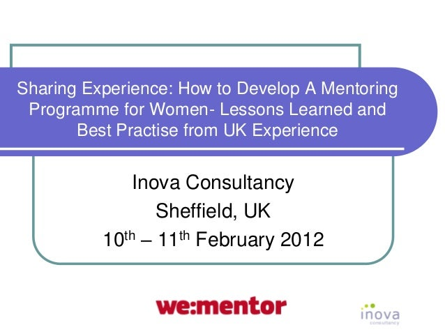 How to develop a mentoring programme for women  uk