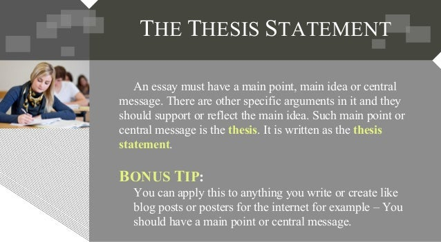 how to develop a thesis statement Online guide to writing and thesis statement and writing strategy is and how i will develop my ideas can i support my thesis with evidence.