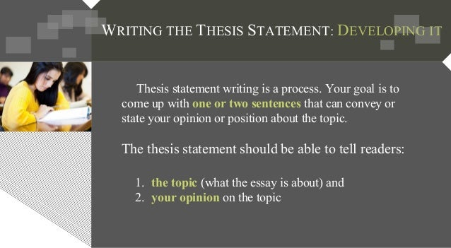 Having some trouble coming up with a thesis statement?