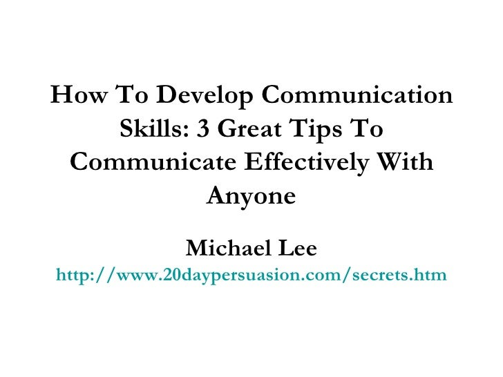 how to develop communication skills pdf