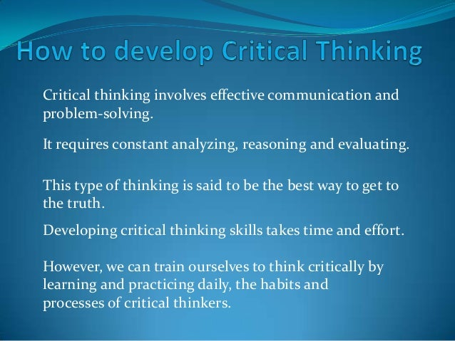 types of critical thinking Critical thinking