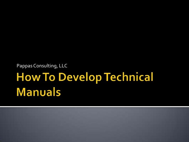 How to develop technical manuals