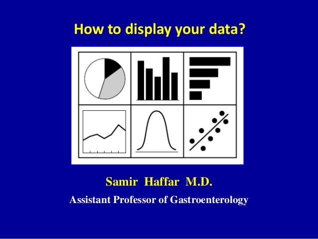 How to display your data? Samir Haffar M.D. Assistant Professor of Gastroenterology