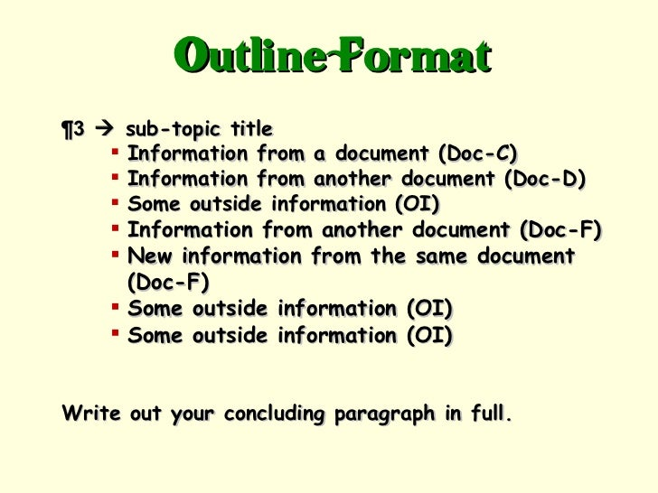 Outside information dbq essay