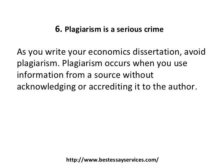Write my dissertation in economics
