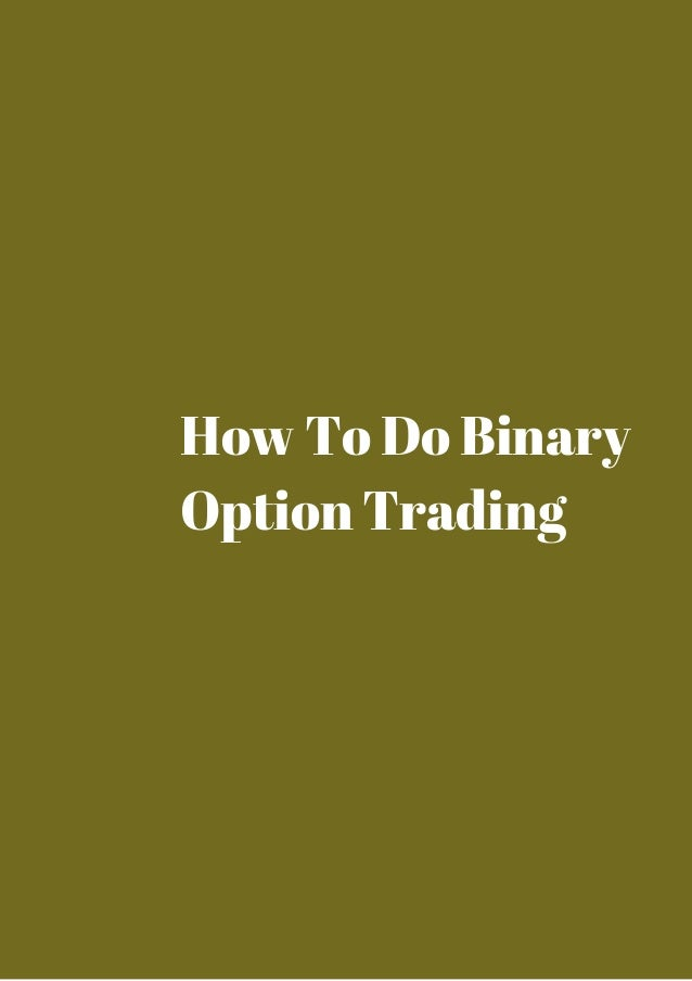 How to do options trading
