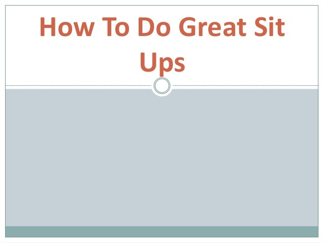 how to do sit ups faster