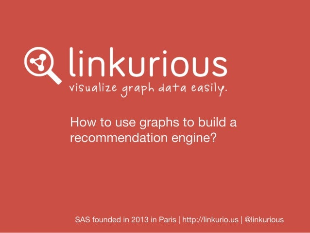 How to use graphs to build recommendation engines