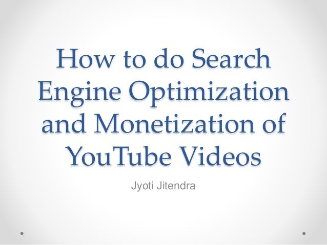 How to do Search Engine Optimization yourself