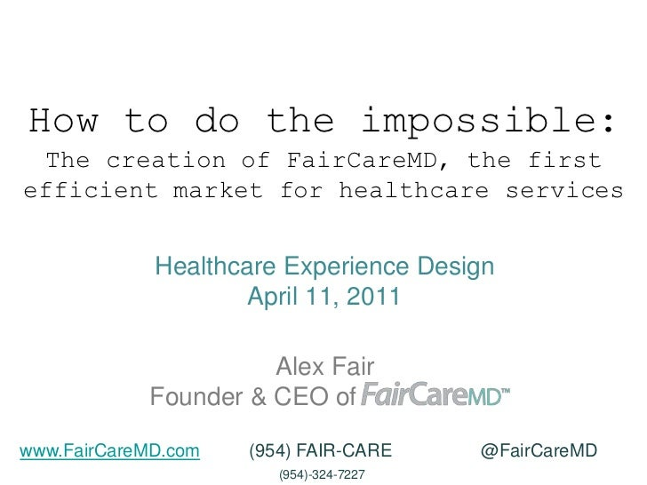 How to do the impossible: The creation of the FairCareMD Open Network for Healthcare