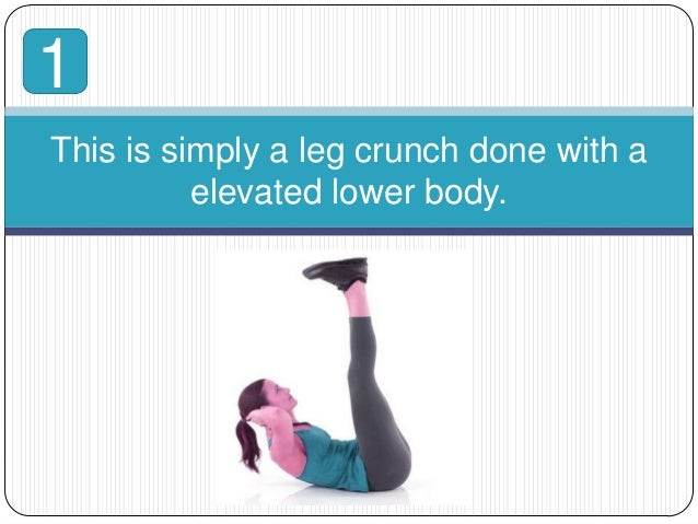 Crunch With Legs Elevated This is Simply a Leg Crunch