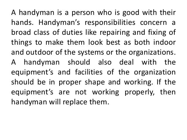 another word for handyman for resume resume ideas