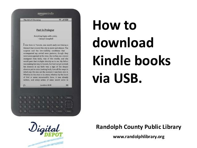 How to download kindle books via usb 2014