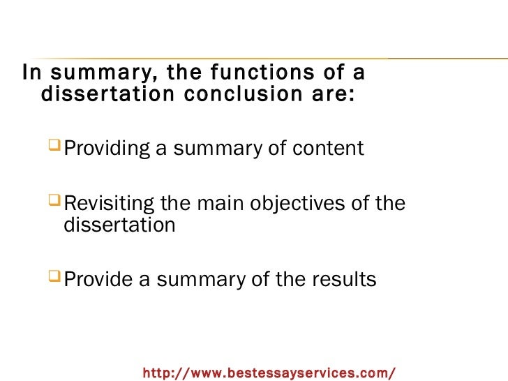 write phd thesis conclusions Writing a conclusion is an important part of thesis dissertation writing ideally, a good conclusion should be able to provide a good picture of what the thesis is about the conclusion should also give a clear impression that the purpose of the thesis has been achieved the conclusion of a research reaffirms the thesis statement, discusses the.