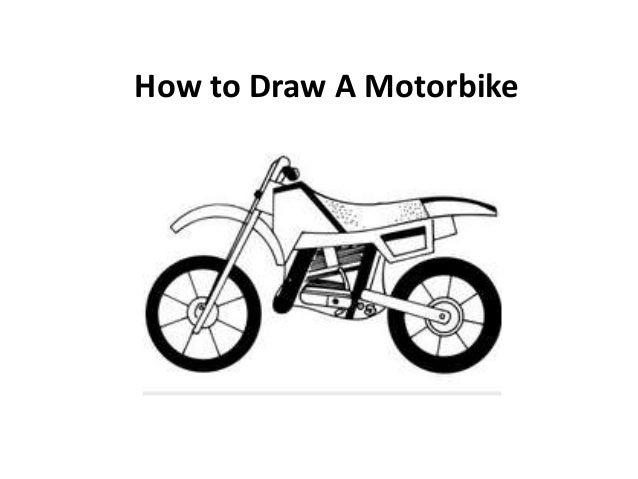 How to draw a motorbike