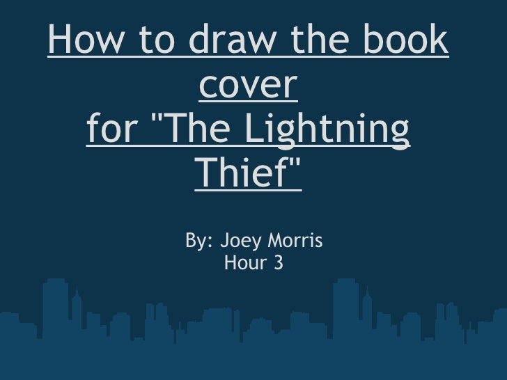 How To Draw The Book Cover For The Lightning Thief