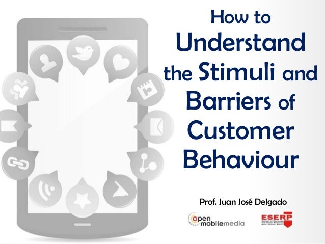 Prof. Juan José Delgado How to Understand the Stimuli and Barriers of Customer Behaviour