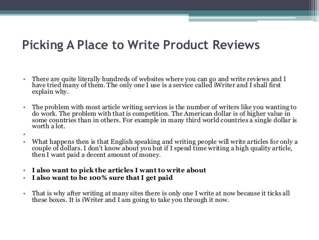 Write to earn money