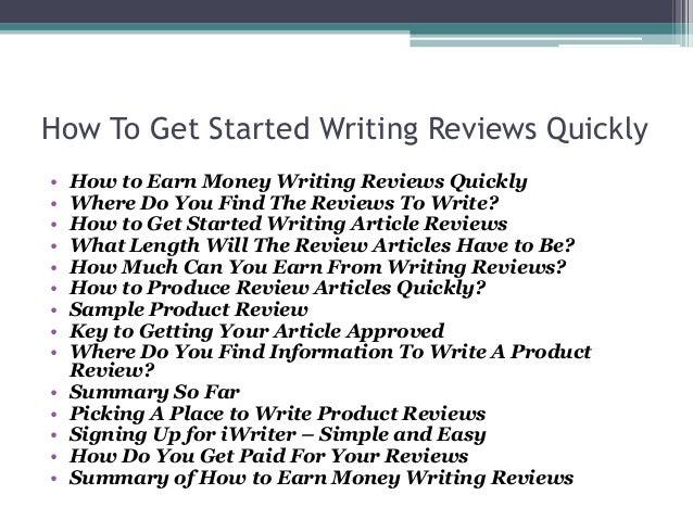 Writing article reviews