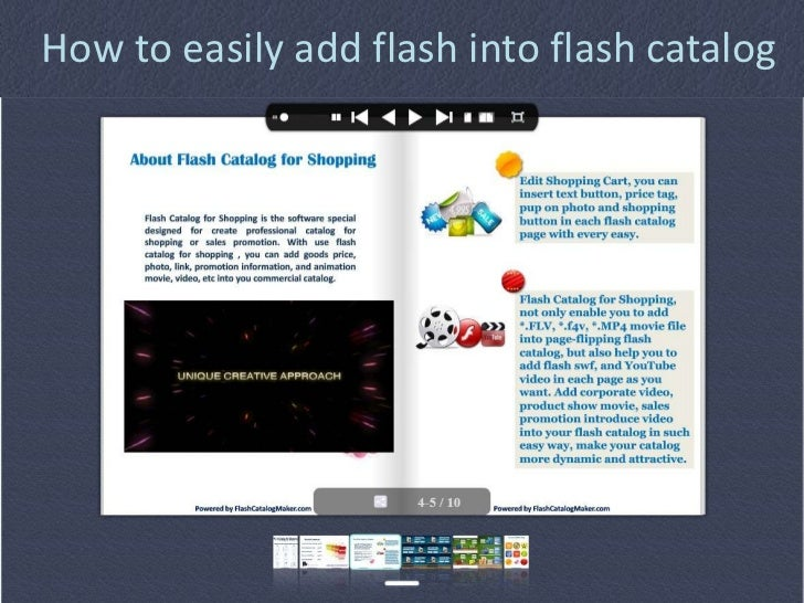 How to easily add flash into flash catalog