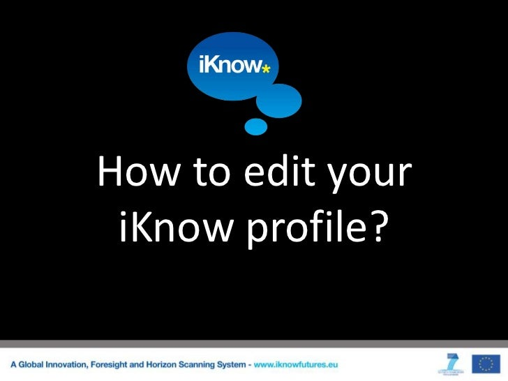 How to edit your iKnow profile?