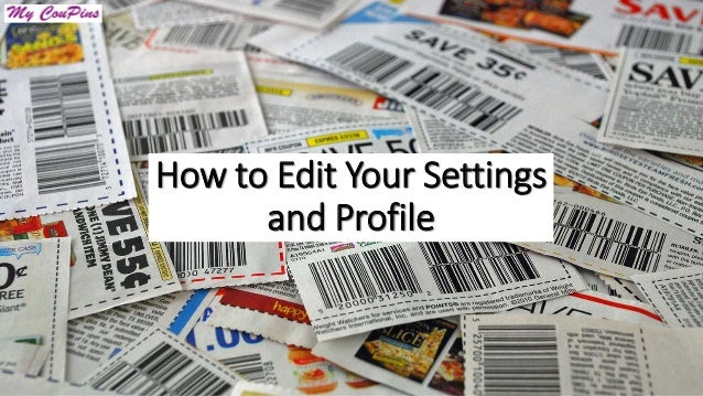 How to Edit Your Settings and Profile