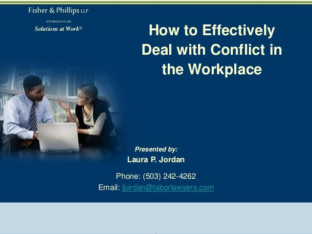 how to solve conflict in the workplace