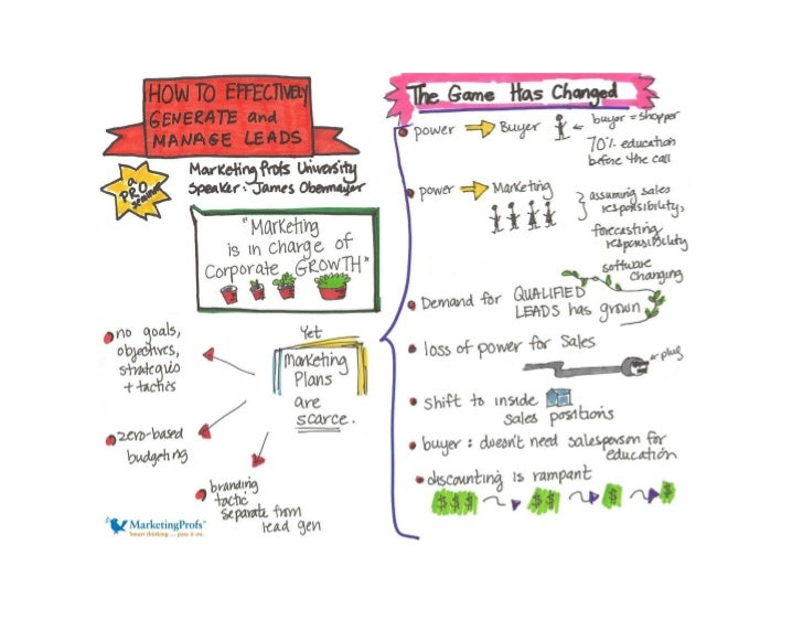 How to Effectively Generate and Manage Leads [visual summary from MarketingProfs]