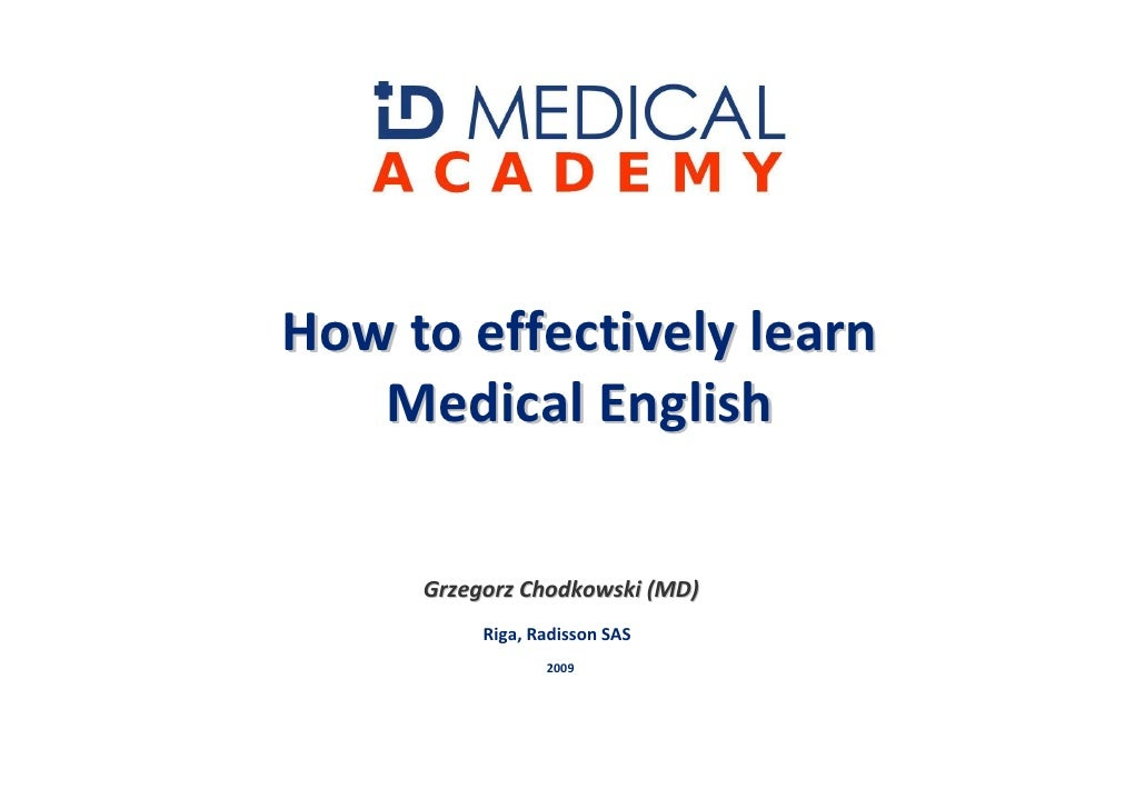 How To Learn Medical English