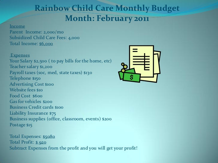 view free sample daycare business plan