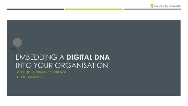 Embedding a digital DNA into your business